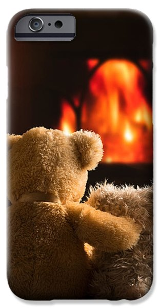 Indoor iPhone Cases - Teddies By The Fire iPhone Case by Amanda And Christopher Elwell