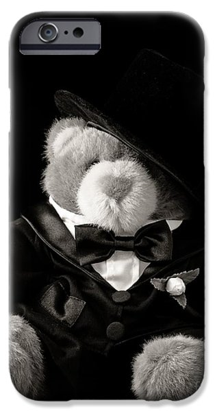 Stuffed Animal iPhone Cases - Teddy Bear Groom iPhone Case by Edward Fielding