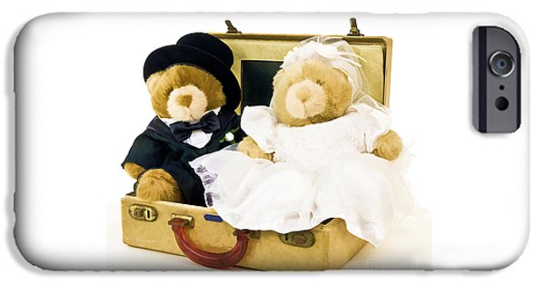 Bride iPhone Cases - Teddy Bear Honeymoon iPhone Case by Edward Fielding