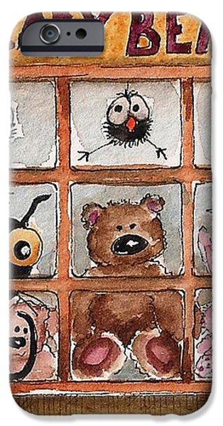 Teddy Bear Shop iPhone Case by Lucia Stewart