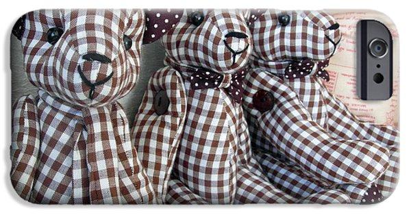 Tripple iPhone Cases - Teddy Bear Triplets iPhone Case by Ian Scholan