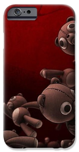 Teddy Bears Crowd iPhone Case by Gianfranco Weiss