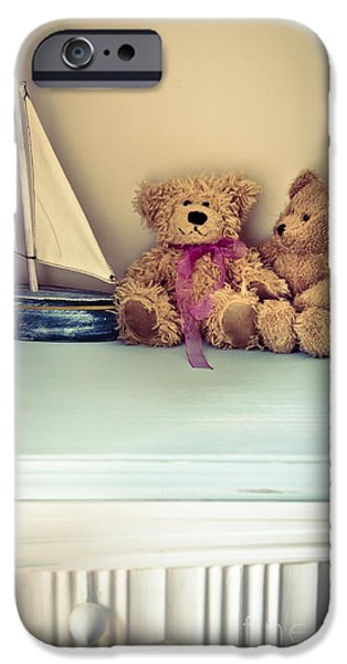 Furniture iPhone Cases - Teddy Bears iPhone Case by Jan Bickerton