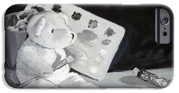 Impressionism Sculptures iPhone Cases - Teddy Behr the Painter #2 iPhone Case by Dan Redmon