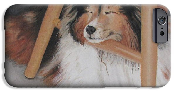 Sandra Chase iPhone Cases - Teddy in My Studio iPhone Case by Sandra Chase