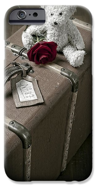 Stuffed Animal iPhone Cases - Teddy Wants To Travel iPhone Case by Joana Kruse