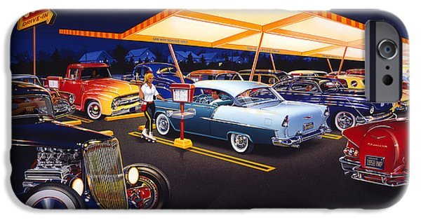 Fifties iPhone Cases - Teds Drive-In iPhone Case by Bruce Kaiser