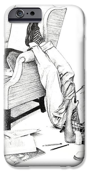 Teenager Studying iPhone Case by Susan Leggett