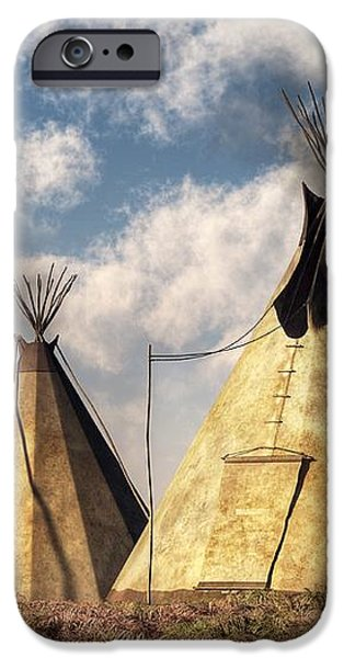 Teepees iPhone Case by Daniel Eskridge