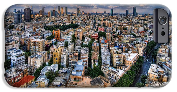 Israel iPhone Cases - Tel Aviv lookout iPhone Case by Ron Shoshani