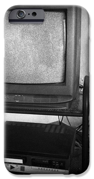 Television and recorder iPhone Case by Les Cunliffe