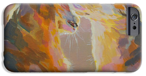 Sunlight Paintings iPhone Cases - Telling Secrets iPhone Case by Kimberly Santini