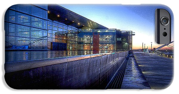 Big Blue Marble iPhone Cases - Tempe Center for the Arts iPhone Case by Kelly Gibson