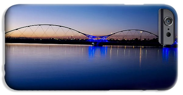 Big Blue Marble iPhone Cases - Tempe Town Lake iPhone Case by Kelly Gibson