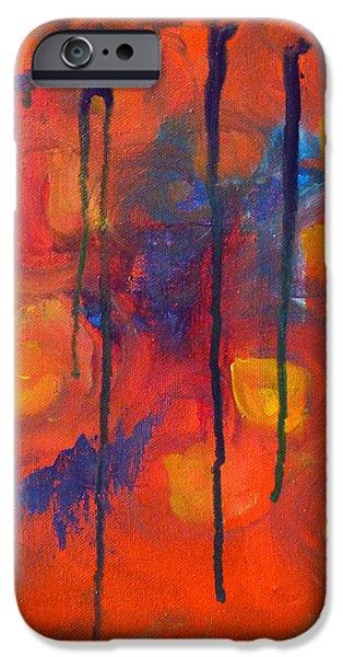 Business Paintings iPhone Cases - Temper Tantrum iPhone Case by Nancy Merkle