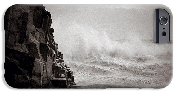 Power iPhone Cases - Raging Sea iPhone Case by Dave Bowman
