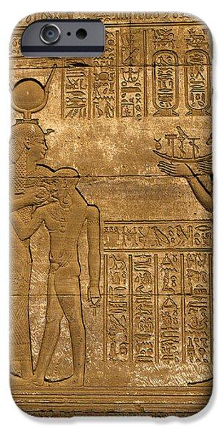 Temple at Denderah Egypt iPhone Case by Brenda Kean