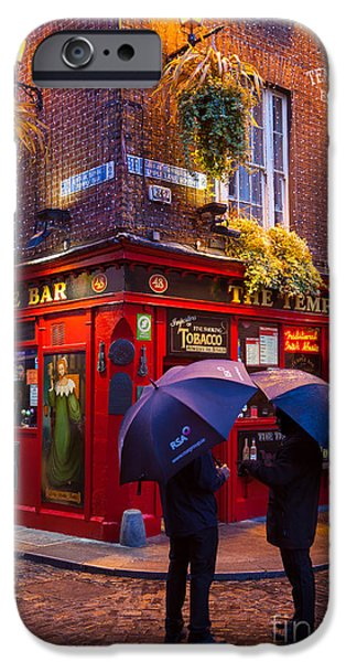 Corner iPhone Cases - Temple Bar iPhone Case by Inge Johnsson