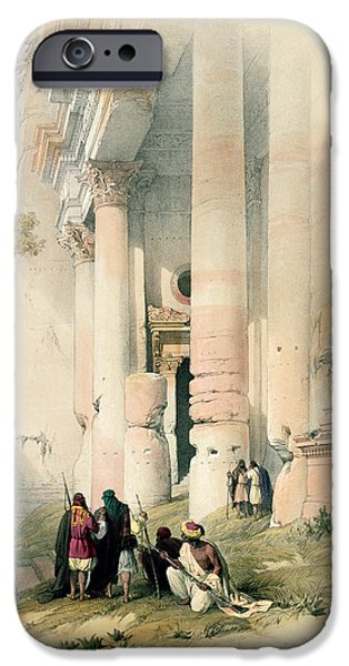 Remnant iPhone Cases - Temple called El Khasne iPhone Case by David Roberts