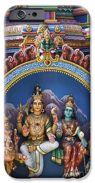 Hindu Goddess iPhone Cases - Temple Deity Statues India iPhone Case by Tim Gainey