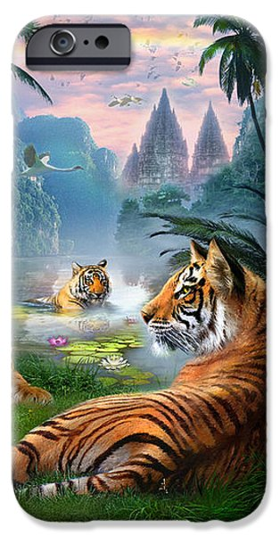 Temple Lake Tigers iPhone Case by Jan Patrik Krasny