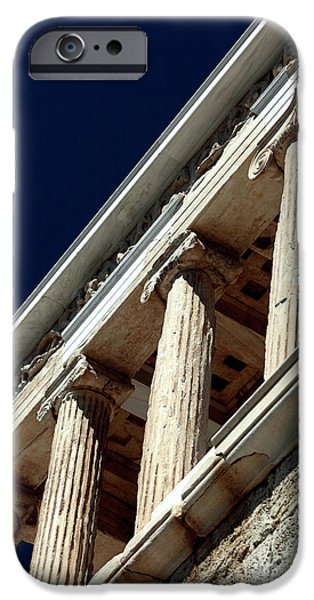 Temple Of Athena Nike iPhone Cases - Temple of Athena Nike Columns iPhone Case by John Rizzuto