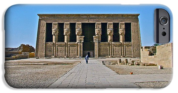Hathor iPhone Cases - Temple of Hathor near Dendera-Egypt iPhone Case by Ruth Hager