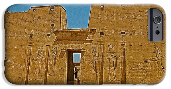 Horus iPhone Cases - Temple of Horus in Edfu-Egypt iPhone Case by Ruth Hager