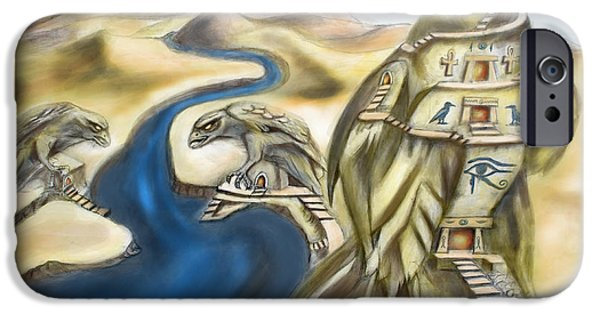Horus iPhone Cases - TEMPLE OF HORUS three of three iPhone Case by Michael Cook