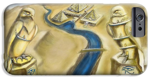 Horus iPhone Cases - TEMPLE OF HORUS two out of three iPhone Case by Michael Cook