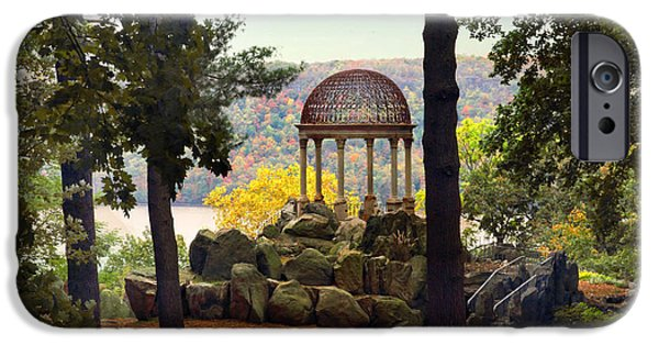 Hudson River Digital iPhone Cases - Temple of Love in Autumn iPhone Case by Jessica Jenney