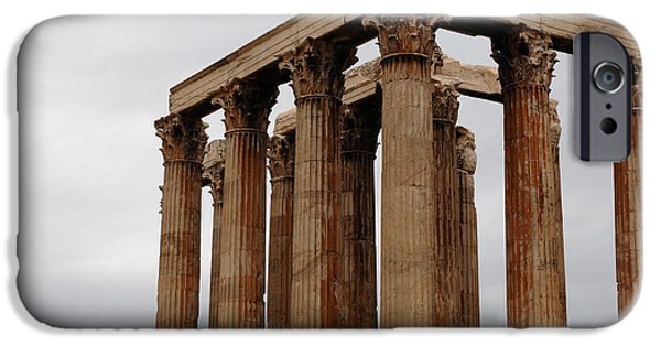 Athens iPhone Cases - Temple Of Olympian Zeus iPhone Case by Bob Christopher