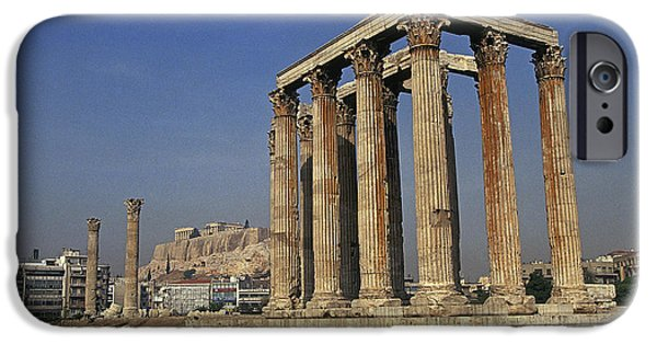 Zeus iPhone Cases - Temple Of Olympian Zeus iPhone Case by Buddy Mays