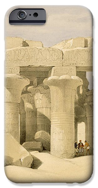 Temple of Sobek and Haroeris at Kom Ombo iPhone Case by David Roberts