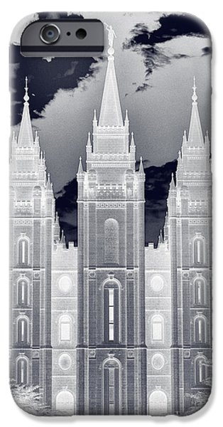 Angel Moroni iPhone Cases - Temple Square Nightmare iPhone Case by Joshua House