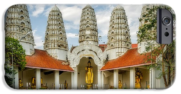 Buddhist iPhone Cases - Temple Towers iPhone Case by Adrian Evans