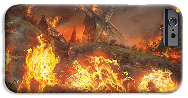 Inferno iPhone Cases - Tempt With Vengeance iPhone Case by Ryan Barger