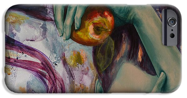 Eva iPhone Cases - Temptation  iPhone Case by Dorina  Costras