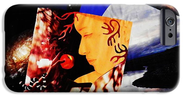 Serpent Mixed Media iPhone Cases - Temptation of Eve iPhone Case by Sarah Loft