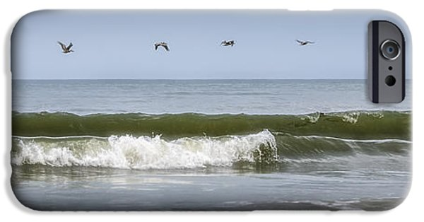 Abstract Digital Photographs iPhone Cases - Ten Pelicans iPhone Case by Steven Sparks