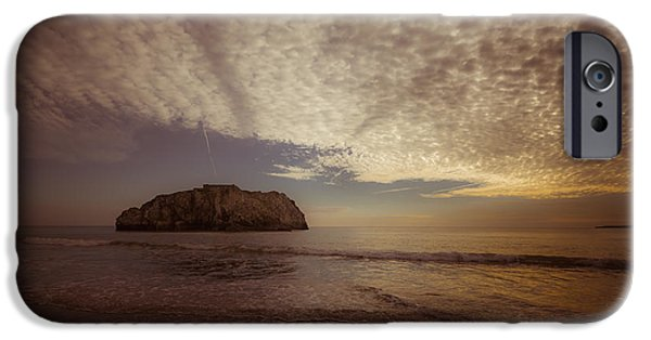 Beach Landscape iPhone Cases - Tenby beach iPhone Case by Chris Fletcher