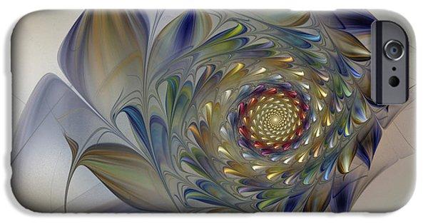 Fractal iPhone Cases - Tender Flowers Dream-Fractal Art iPhone Case by Karin Kuhlmann