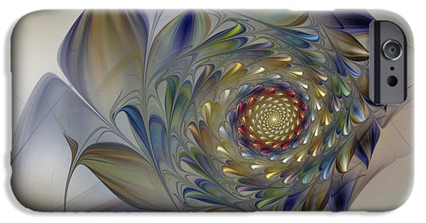Abstractions Digital iPhone Cases - Tender Flowers Dream-Fractal Art iPhone Case by Karin Kuhlmann
