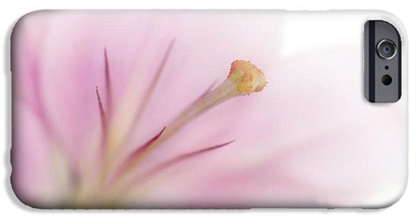 Stamen Digital iPhone Cases - Tender Lily iPhone Case by Melanie Viola