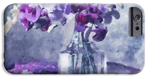 Impressionism Mixed Media iPhone Cases - Tender Moments Still Life iPhone Case by Georgiana Romanovna