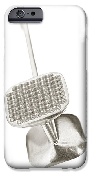 Beaters iPhone Cases - Tenderizer iPhone Case by Olivier Le Queinec