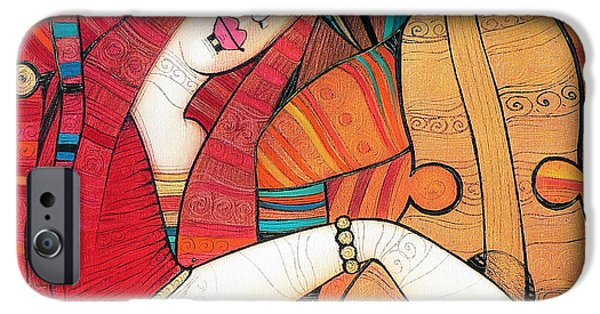 Albena iPhone Cases - Tenderly iPhone Case by Albena Vatcheva