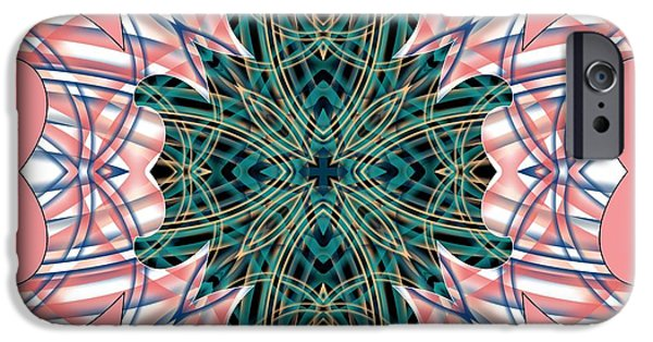 Colorful Abstract iPhone Cases - Tendril 2 iPhone Case by Brian Johnson