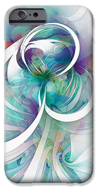 Tendrils 03 iPhone Case by Amanda Moore