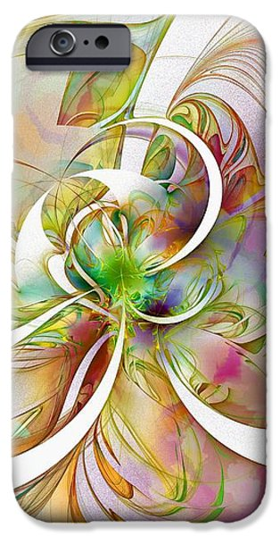 Tendrils 06 iPhone Case by Amanda Moore